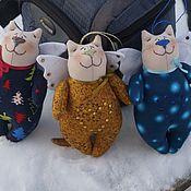 Куклы и игрушки ручной работы. Ярмарка Мастеров - ручная работа Нарядные котики. Handmade.