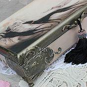 """Для дома и интерьера ручной работы. Ярмарка Мастеров - ручная работа Шкатулка для украшений """" La femme"""" ар деко декаданс. Handmade."""