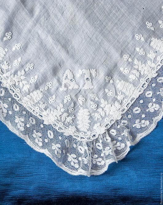 Винтажная одежда и аксессуары. Ярмарка Мастеров - ручная работа. Купить Платочек с французской белой вышивкой 2. Handmade. Белый, вышивка