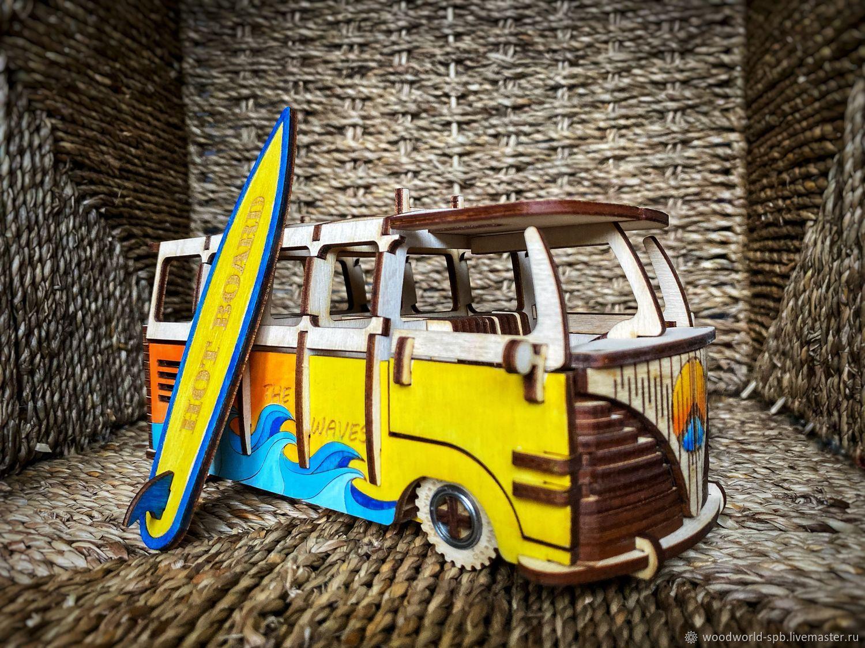 VW bus, surf bus, classic volkswagen, Machines robots transport, St. Petersburg,  Фото №1