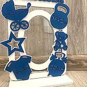 Сувениры и подарки handmade. Livemaster - original item Children`s metric frame. Handmade.