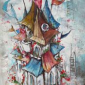 Картины и панно ручной работы. Ярмарка Мастеров - ручная работа Дом на семи ветрах. Handmade.