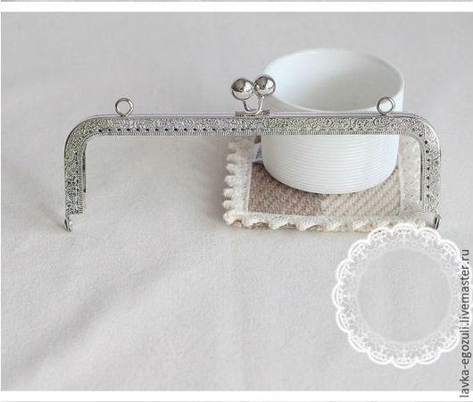 Другие виды рукоделия ручной работы. Ярмарка Мастеров - ручная работа. Купить Фермуар 20 см, пришивная рамка,фермуары пришивные, фермуар для сумок. Handmade.