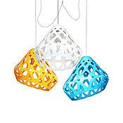 Для дома и интерьера handmade. Livemaster - original item ZAHA trehrozhkovye tricolor LIGHT chandelier 30. Handmade.
