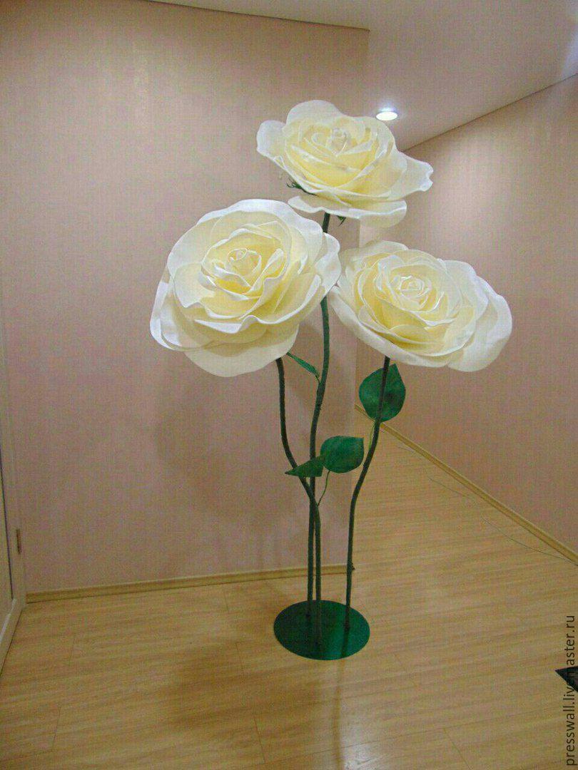 Ростовые цветы из изолона мастер класс