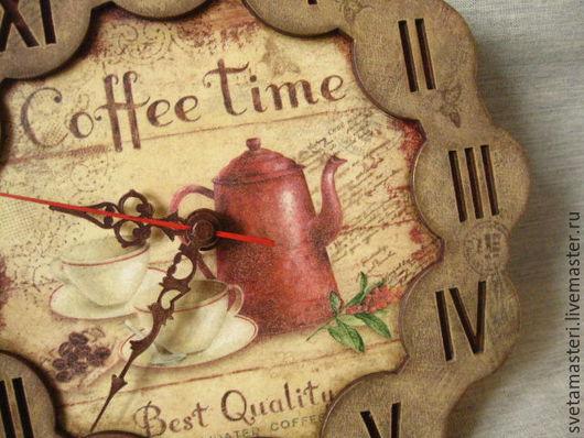 """Часы для дома ручной работы. Ярмарка Мастеров - ручная работа. Купить """"Утро начинается с кофе"""" часы. Handmade. Часы для дома"""