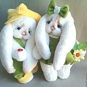 Куклы и игрушки handmade. Livemaster - original item Teddy Bunny friends. Handmade.