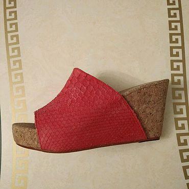 Обувь ручной работы. Ярмарка Мастеров - ручная работа Сабо из кожи питона. Handmade.