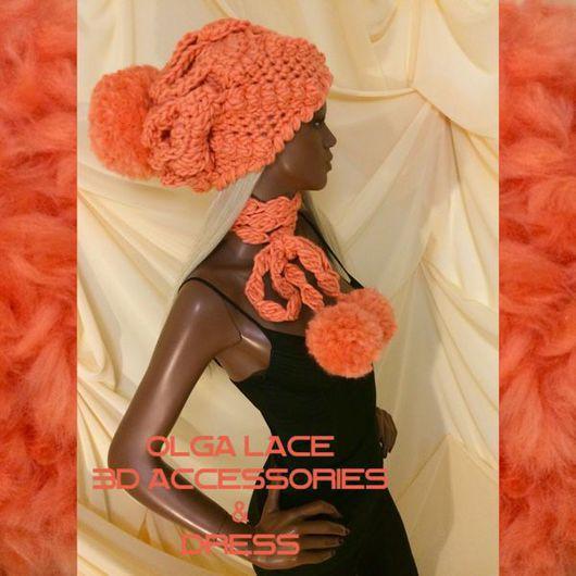 """Шапки ручной работы. Ярмарка Мастеров - ручная работа. Купить Объёмная вязаная шапка """"Luxury"""" от Olga Lace. Пряжа - WOOLandMANIA.. Handmade."""