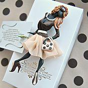 """Украшения ручной работы. Ярмарка Мастеров - ручная работа комплект: брошь """"Лорен"""",платок. Handmade."""