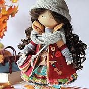 Куклы и игрушки ручной работы. Ярмарка Мастеров - ручная работа Осень. Фрэнка. Кукла текстильная. Большеногая девочка.. Handmade.
