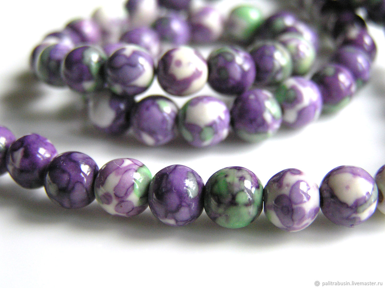 Stone beads with 6 mm pattern, Beads1, Tyumen, Фото №1