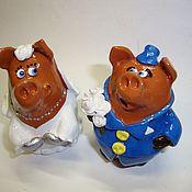Куклы и игрушки ручной работы. Ярмарка Мастеров - ручная работа Влюбленные хрюшки. Handmade.