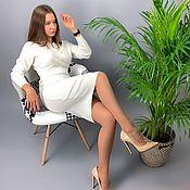 Одежда handmade. Livemaster - original item Cashmere dress for office. Handmade.