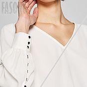 Одежда handmade. Livemaster - original item Women`s blouse white