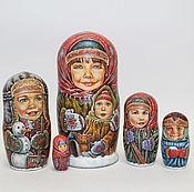 Русский стиль ручной работы. Ярмарка Мастеров - ручная работа матрешка 18 см 5 мест. Handmade.