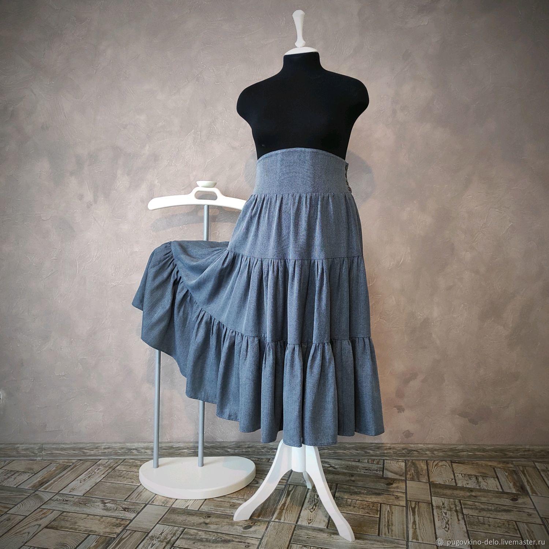 Ярусная юбка с корсетным поясом XXL, Юбки, Кемерово,  Фото №1