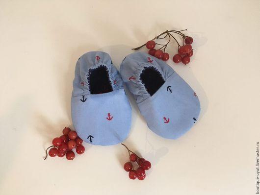 Обувь ручной работы. Ярмарка Мастеров - ручная работа. Купить пинетки двухсторонние. Handmade. Пинетки, чешки, обувь для малышей