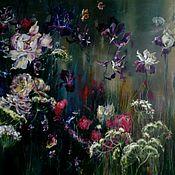 Картины и панно ручной работы. Ярмарка Мастеров - ручная работа Живопись с цветами. Handmade.