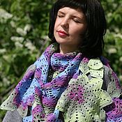 Аксессуары handmade. Livemaster - original item Shawl For Woman Crochet Wrap Stole Knit Shawl Womens Scarf. Handmade.