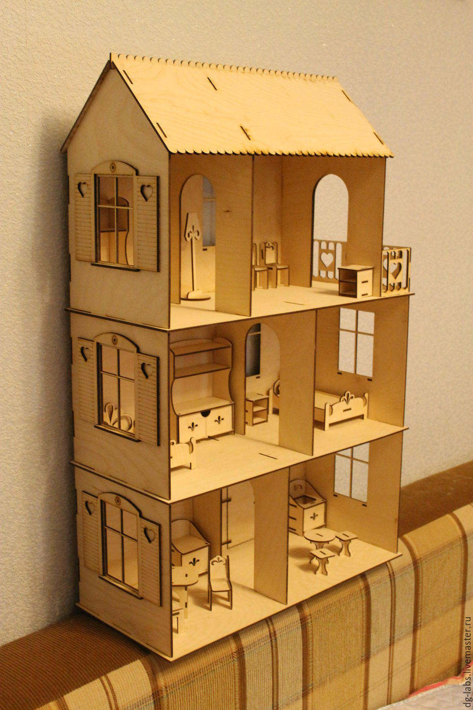 Кукольные домики своими руками фото из фанеры  196