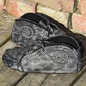 """Ботинки ручной работы. Ярмарка Мастеров - ручная работа Ботинки """"Серый мрамор"""". Handmade."""