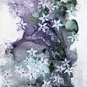 Картины и панно handmade. Livemaster - original item Painting abstract alcohol ink Spring motif. Handmade.