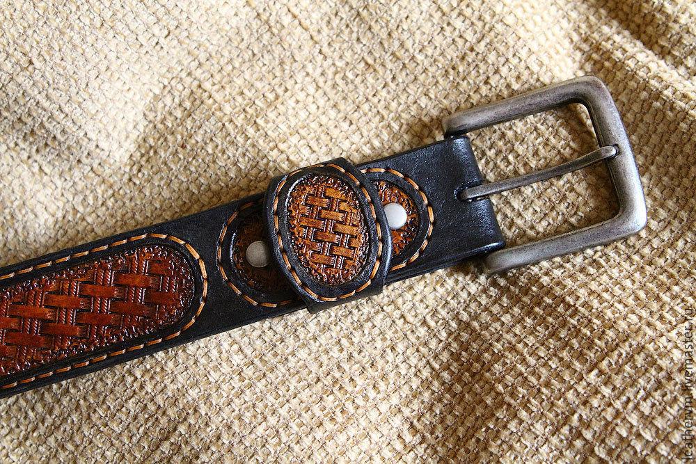 Кожаные изделия ремни ремень коричневый мужской под брюки