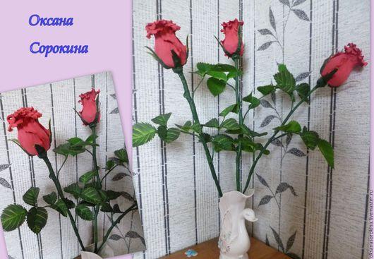Элементы интерьера ручной работы. Ярмарка Мастеров - ручная работа. Купить Розы интерьерные. Handmade. Декор для интерьера, фоамиран иранский