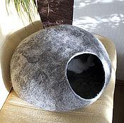 """Для домашних животных, ручной работы. Ярмарка Мастеров - ручная работа Валяный домик для кошки """"Резиденция-2"""". Handmade."""