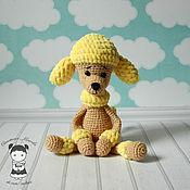 Подарки к праздникам handmade. Livemaster - original item Toy dog poodle yellow. Handmade.