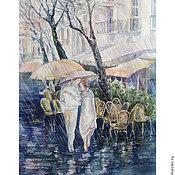 Картины и панно ручной работы. Ярмарка Мастеров - ручная работа Под дождем вдвоем.. Handmade.