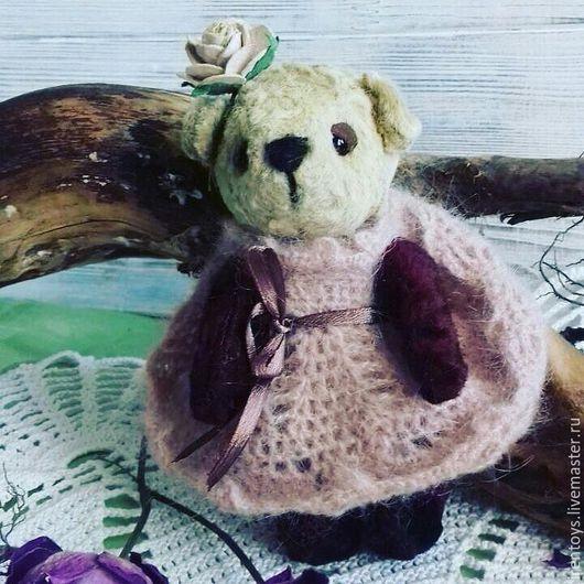 Мишки Тедди ручной работы. Ярмарка Мастеров - ручная работа. Купить Тедди мишка Лилу. Handmade. Комбинированный, теддик