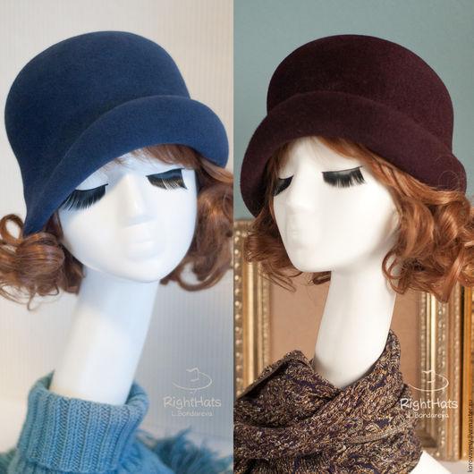 Шляпы ручной работы. Ярмарка Мастеров - ручная работа. Купить СТИЛЬНЫЕ 20-е. Handmade. Коричневый, женственный образ