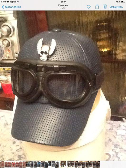 """Бейсболки ручной работы. Ярмарка Мастеров - ручная работа. Купить Бейсболка с очками """"Синий бриз"""". Handmade. Бейсболка, авиатор"""