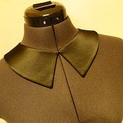 Украшения handmade. Livemaster - original item SM collar detachable universal black atlass. Handmade.