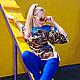 """Блузки ручной работы. Заказать Блузка хлопковая """"Птицы"""". Kseniya i Studiya dizajna 'KsMezo'. Ярмарка Мастеров. Комоно"""
