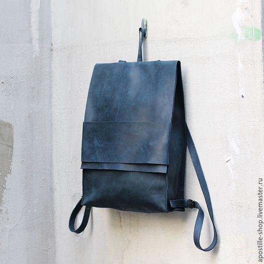 Рюкзаки ручной работы. Ярмарка Мастеров - ручная работа. Купить Рюкзак GoTravel Vintage 1.1 Deep Blue. Handmade.