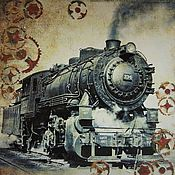 Канцелярские товары handmade. Livemaster - original item Photo albums: Photo album steampunk arrival of a train. Handmade.