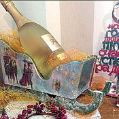 Для дома и интерьера handmade. Livemaster - original item Sleigh Noble, interior, under the champagne!. Handmade.