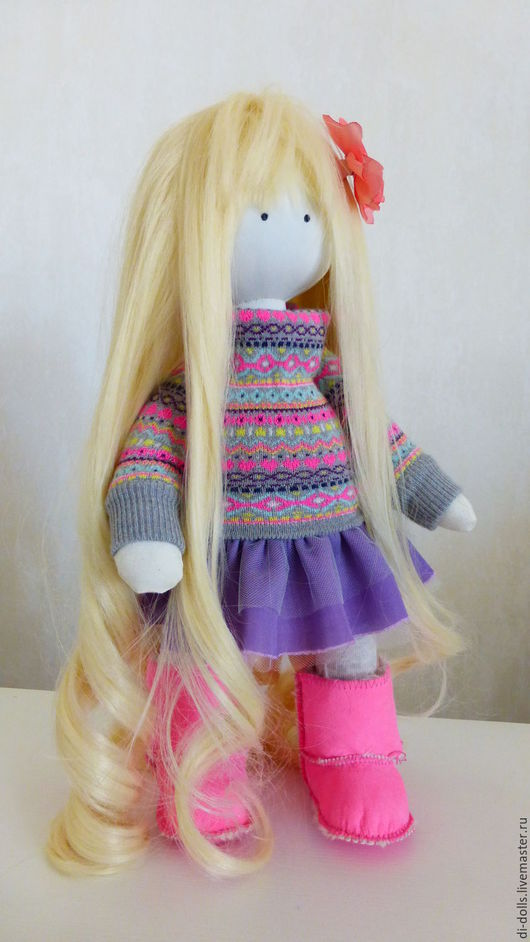 Коллекционные куклы ручной работы. Ярмарка Мастеров - ручная работа. Купить Амалия - Интерьерная коллекционная кукла ручной работы -40 см. Handmade.