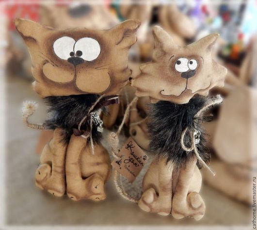 Ароматизированные куклы ручной работы. Ярмарка Мастеров - ручная работа. Купить Дворовые аристократы. Handmade. Коричневый, котик игрушка, проволока