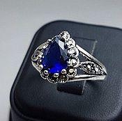 Украшения handmade. Livemaster - original item sapphire ring. Size 18,25. Handmade.