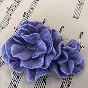 Украшения handmade. Livemaster - original item Purple haze, set of felt ornaments. Handmade.
