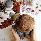 Куклы и игрушки handmade. Livemaster - original item Moose Teddy growth of 26,5 cm. Handmade.