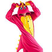 Субкультуры handmade. Livemaster - original item Costume kigurumi Pink Dragon PINK DRAGON KIGU. Handmade.
