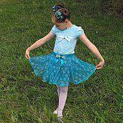 Юбки ручной работы. Ярмарка Мастеров - ручная работа Нарядый комплект юбка+бантики на 4-6 лет. Handmade.