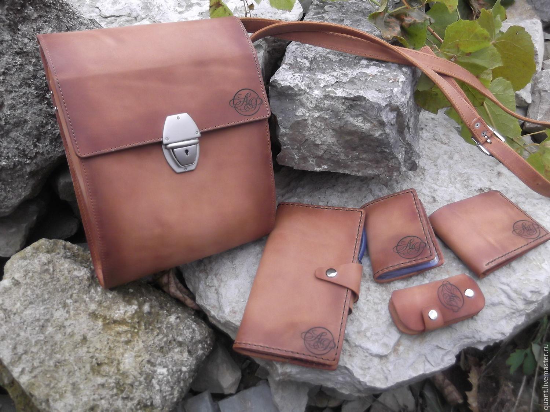 c42ff8c68c71 Мужские сумки ручной работы. Ярмарка Мастеров - ручная работа. Купить Сумка  кожаная мужская и ...