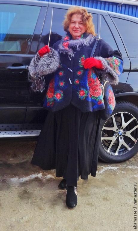"""Верхняя одежда ручной работы. Ярмарка Мастеров - ручная работа. Купить Пальто валяное """"Русский шик"""". Handmade. Пальто, шитье"""