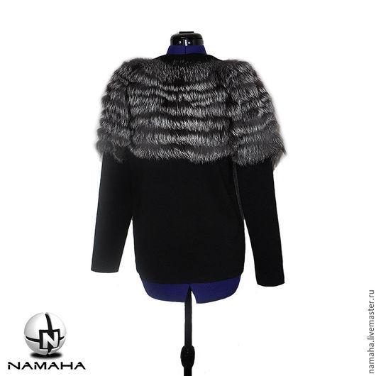 Кофты и свитера ручной работы. Ярмарка Мастеров - ручная работа. Купить Свитшот с мехом лисы, свитер с мехом, свитшот тёплый меховой. Handmade.